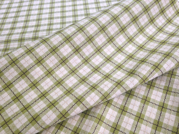 Fabric Green Tattersall Check Plaid - Buttermilk Cottage - 4