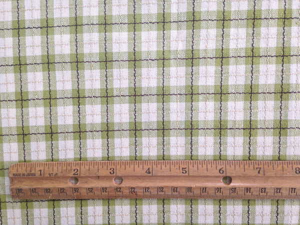 Fabric Green Tattersall Check Plaid - Buttermilk Cottage - 3