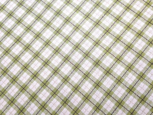 Fabric Green Tattersall Check Plaid - Buttermilk Cottage - 2