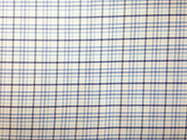 Fabric Woven Blue Plaid - Buttermilk Cottage - 2