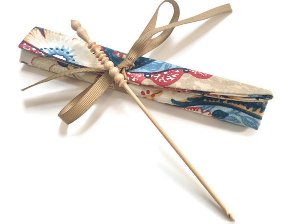 Crochet Hooks for Knitters Blue Ribbon Floral - Buttermilk Cottage - 3