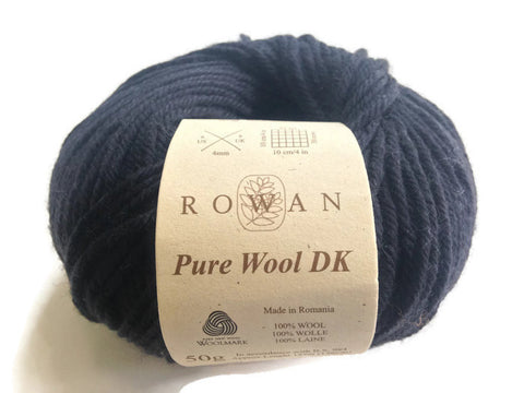 Yarn Rowan Pure Wool DK Black - Buttermilk Cottage