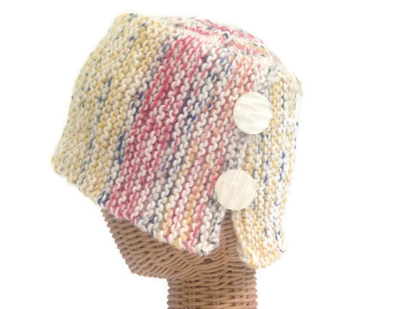 Bucket Hat with Buttons - Buttermilk Cottage