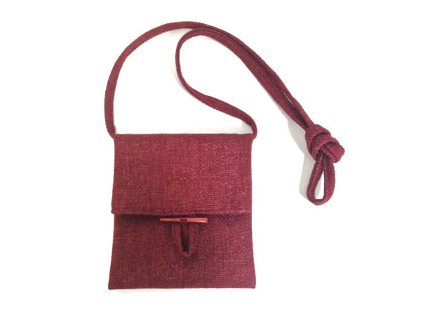 Tag Along Bag Red Woven - Buttermilk Cottage - 3