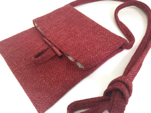 Tag Along Bag Red Woven - Buttermilk Cottage - 1