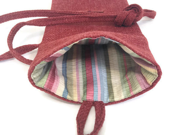 Tag Along Bag Red Woven - Buttermilk Cottage - 4