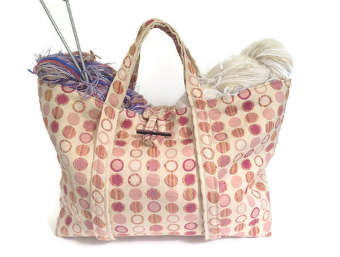 The Large Knitting Bag - Buttermilk Cottage - 1