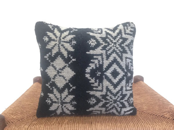 Sweater Pillow Set Black Snowflake - Buttermilk Cottage - 4