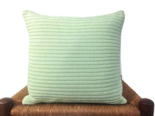 Sweater Pillow Set Pale Green Cable - Buttermilk Cottage