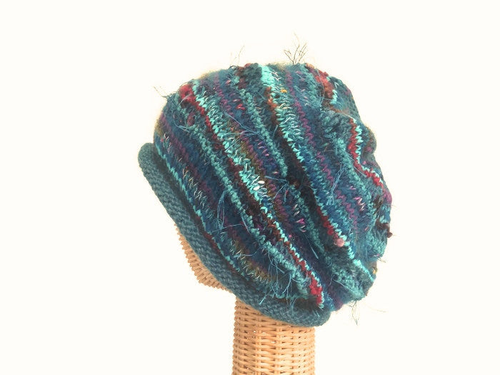 Slouchy Hat Teal FUSION - Buttermilk Cottage - 1