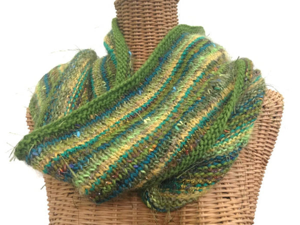 Infinity Scarf Green FUSION - Buttermilk Cottage - 1