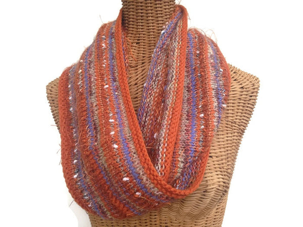 Infinity Scarf Orange FUSION - Buttermilk Cottage - 3
