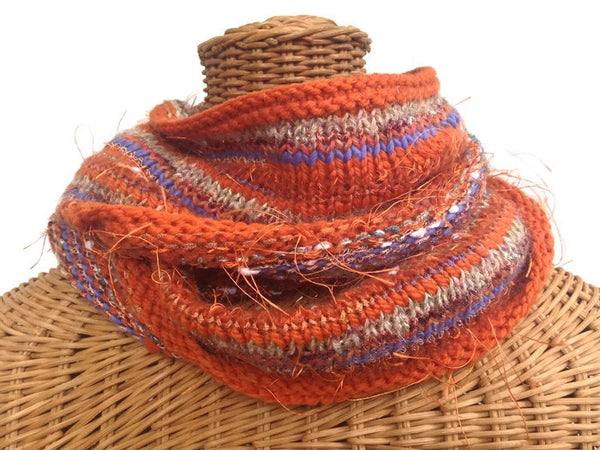 Infinity Scarf Orange FUSION - Buttermilk Cottage - 2