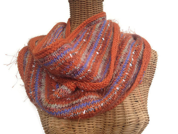 Infinity Scarf Orange FUSION - Buttermilk Cottage - 1