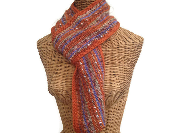Infinity Scarf Orange FUSION - Buttermilk Cottage - 4