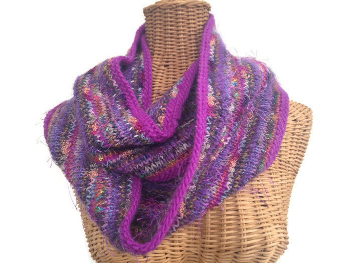 Infinity Scarf Purple FUSION - Buttermilk Cottage - 1