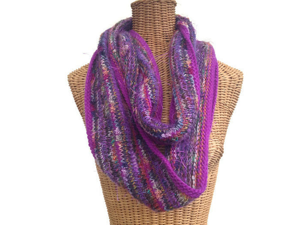 Infinity Scarf Purple FUSION - Buttermilk Cottage - 2