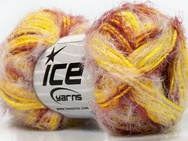 Yarn ICE Bergamot Yellow Burgundy - Buttermilk Cottage - 1