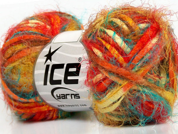 Yarn ICE Vitech  Yellow Turquoise Orange Khaki - Buttermilk Cottage - 1