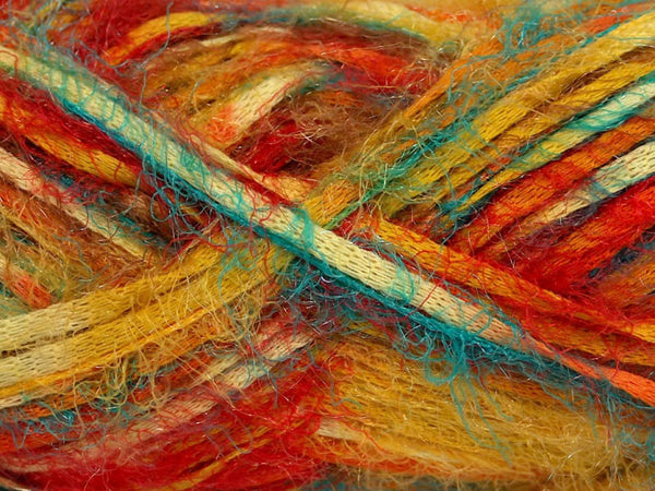 Yarn ICE Vitech  Yellow Turquoise Orange Khaki - Buttermilk Cottage - 2