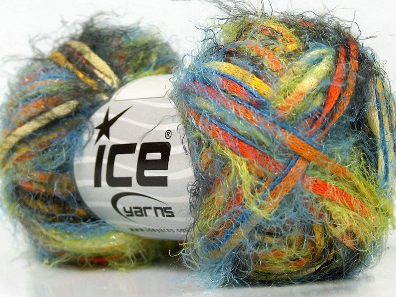 Yarn ICE Vitech  Green Orange Yellow Blue - Buttermilk Cottage - 1