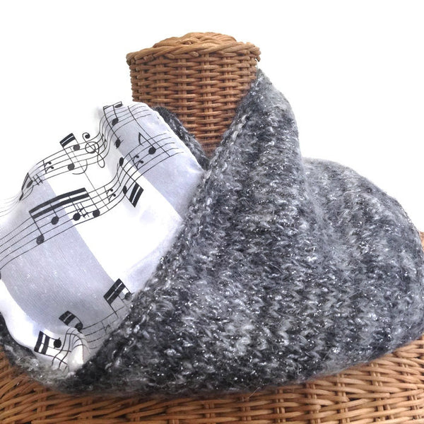 Reversible Cowl Musical Notes - Buttermilk Cottage - 3