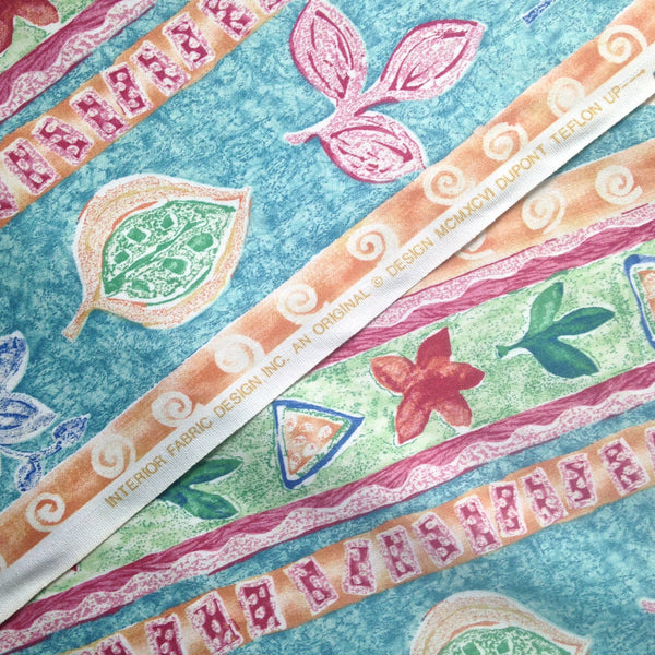 Fabric Abstract Floral Fuchsia Turquoise - Buttermilk Cottage - 3
