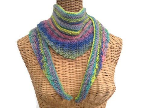 Lacy  Knit Scarf Multicolored - Buttermilk Cottage - 1