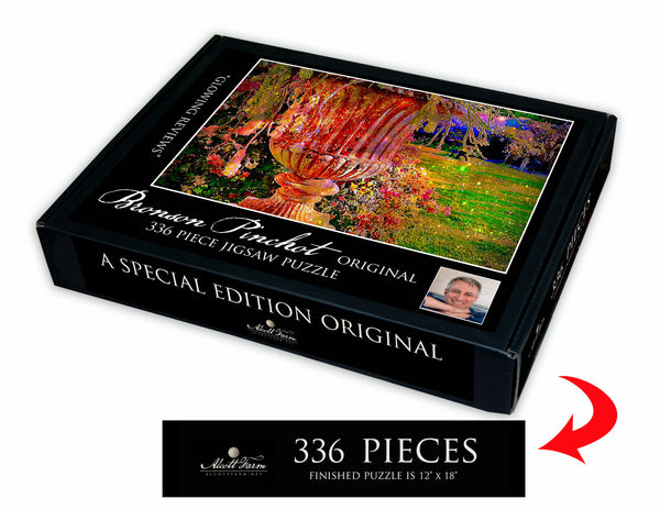 "Alcott Farm Bronson Pinchot Original Artwork Jigsaw Puzzle ""Glowing Reviews"""