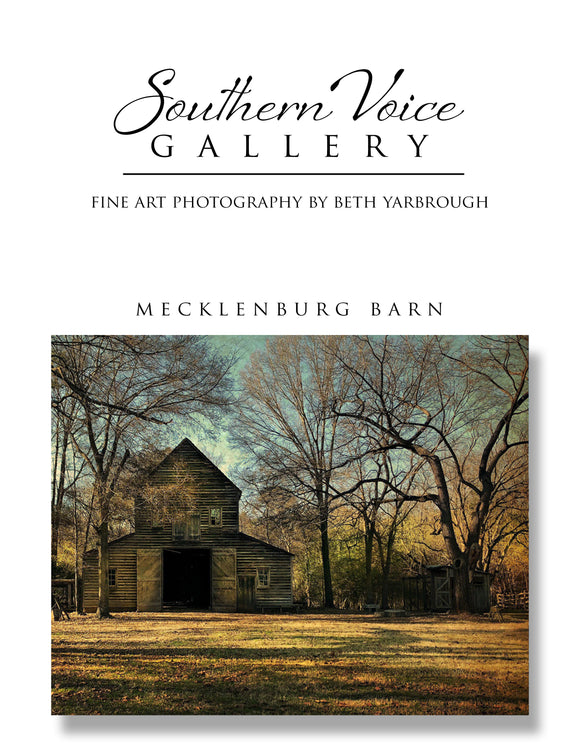 Artwork - Southern Voice Gallery - Farm and Field - Mecklenburg Barn Fine Art Print