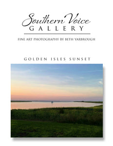 Artwork - Southern Voice Gallery - Waterways - Golden Isles Sunset Fine Art Print