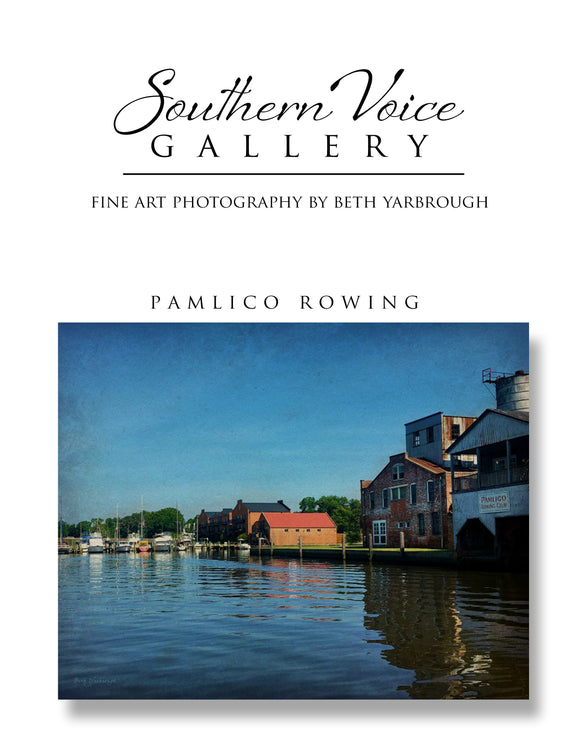 Artwork - Southern Voice Gallery - Waterways - Pamlico Rowing Fine Art Print