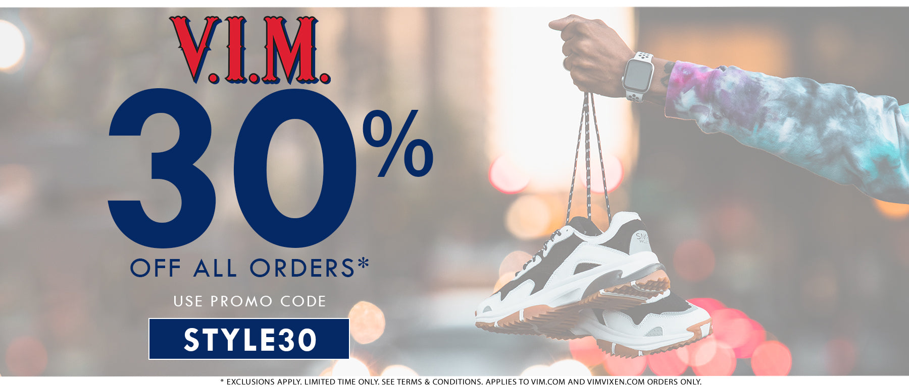 Buy Online from V.I.M. The Best Jeans and Sneaker Stores