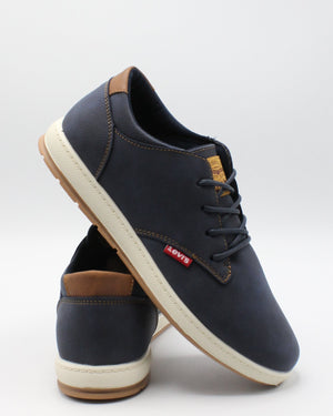 LEVI'S-Men's Percy Waxed Ul Sneaker - Navy-VIM.COM