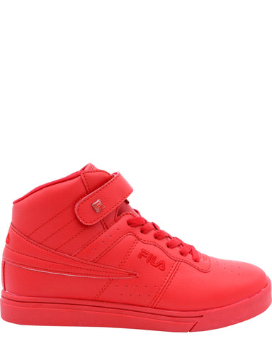 FILA-Vulc 13 Mid Plus Tonal Sneakers (Grade School) - Red-VIM.COM