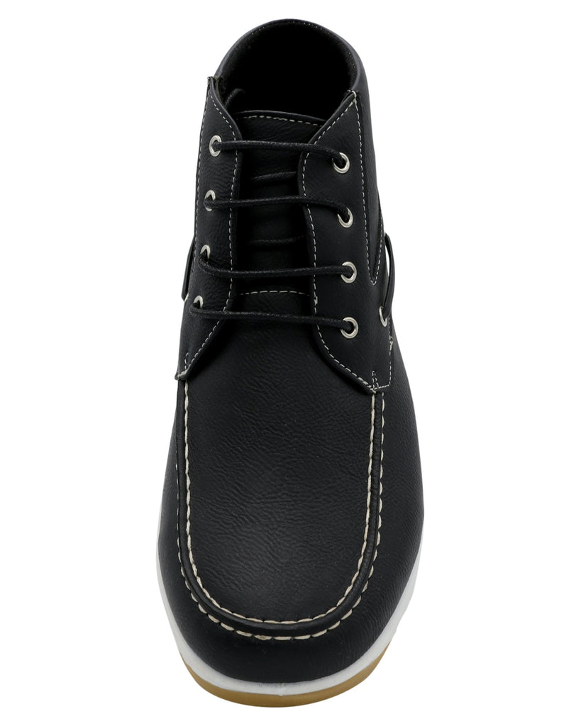 AKADEMIKS Men'S Bow 01 Chukka Shoe - Black - Vim.com