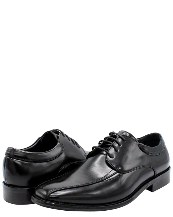ALBERTO FELLINI Men'S Lace Up Moc Toe Dress Shoe - Black - Vim.com