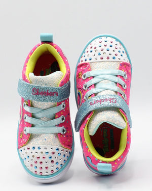 SKECHERS Sparkle Light Sneaker (Toddler) - Pink - Vim.com