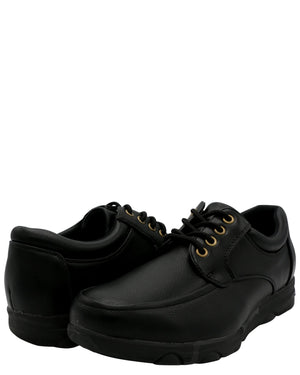 VIM Men'S Lace Up Slip Resistant Shoe - Black - Vim.com