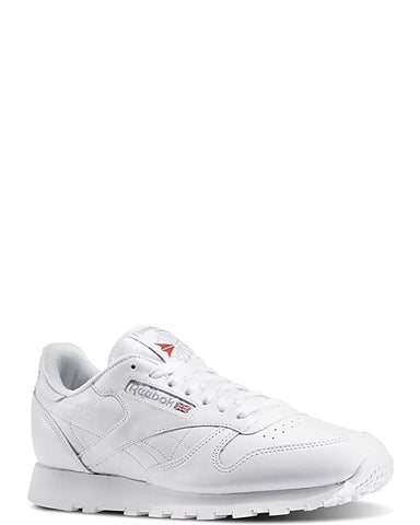 REEBOK-Men's Classic Leather Low Top Sneaker - White-VIM.COM