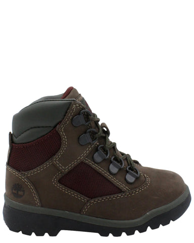 TIMBERLAND-Mixed-Media Field Boot (Toddler/Pre School) - Brown-VIM.COM