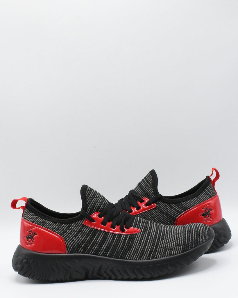 BEVERLY HILLS POLO CLUB Men'S Reeboot Sneaker - Black Red - Vim.com