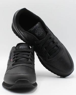REEBOK Classic Leather Ripple Sneaker (Grade School) - Black - Vim.com