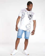 VIM Classic Cuffed Hem Short - Medium Denim - Vim.com