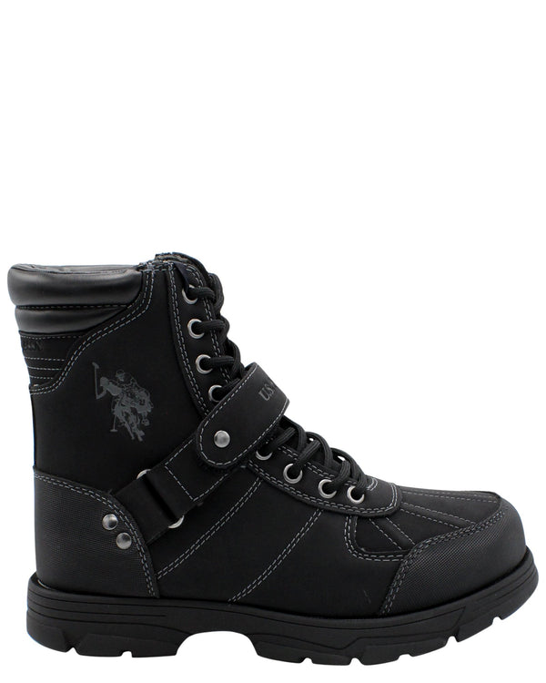 U.S. POLO ASSN.-Men's Connor Strap Boot - Black-VIM.COM