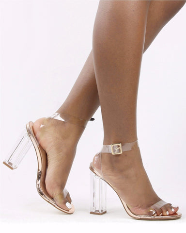 Women's Transparent Perspex Heel