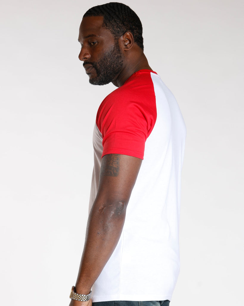 VIM Short Sleeve Raglan Tee - White Red - Vim.com