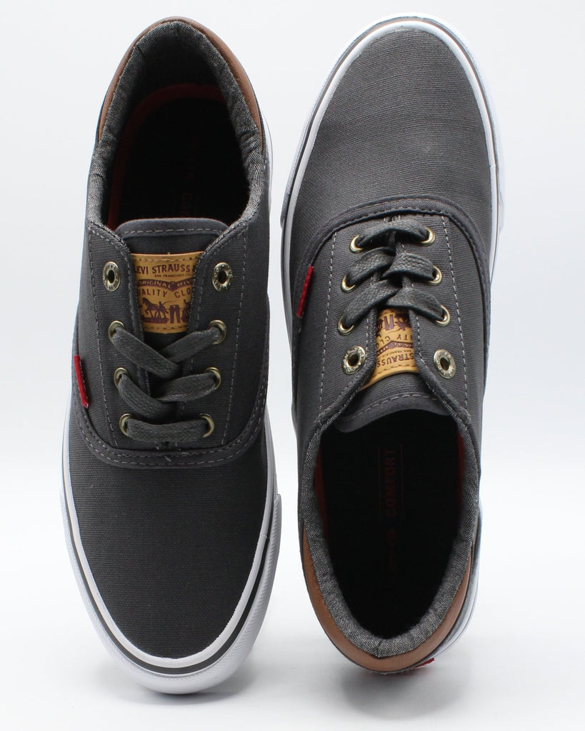 LEVI'S Men'S Ethan Ct Canvas Il Sneaker - Charcoal - Vim.com