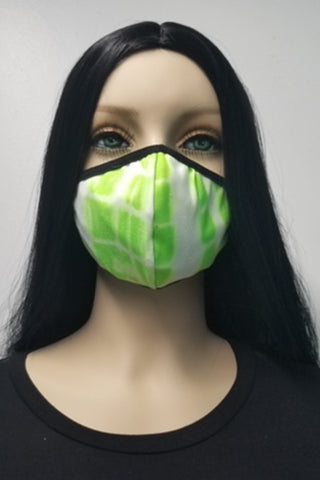 Women's Face Mask - Lime Tie Dye