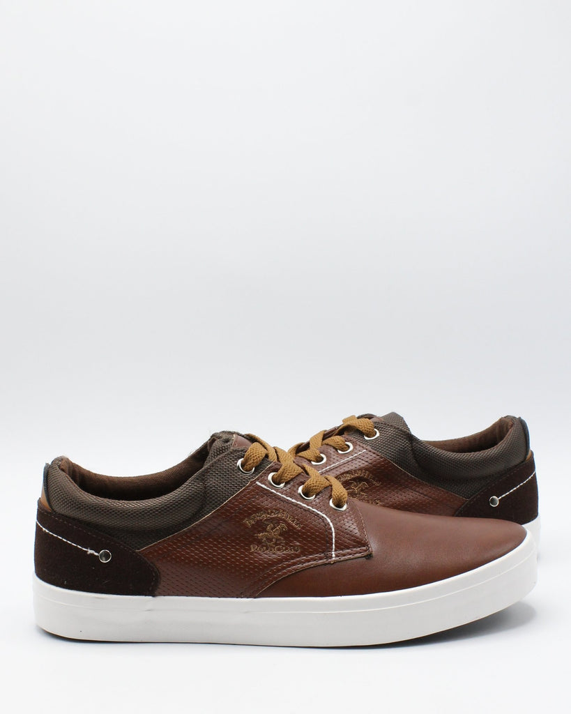 BEVERLY HILLS POLO CLUB Men'S Eric Sneaker - Brown - Vim.com